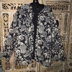 Phool jacket women's 2X quilted floral print